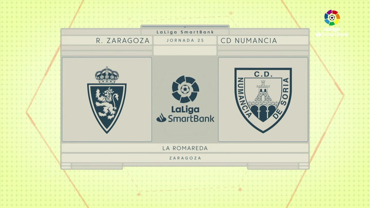 LaLiga SmartBank (J25): Resumen y gol del Zaragoza 1-0 Numancia