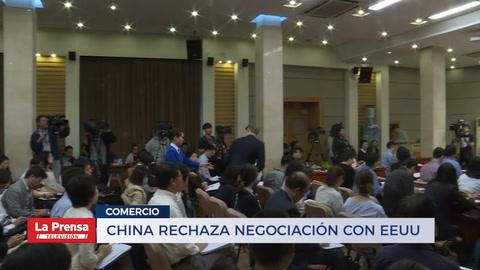 China rechaza negociaciones con EEUU