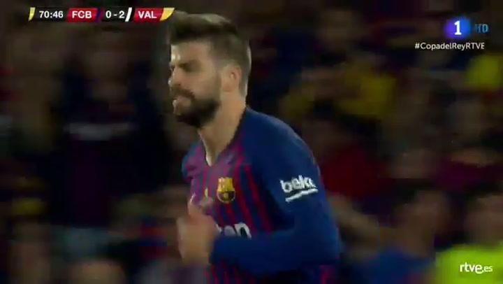 Copa del Rey: Barça-Valencia. Ocasión de Piqué