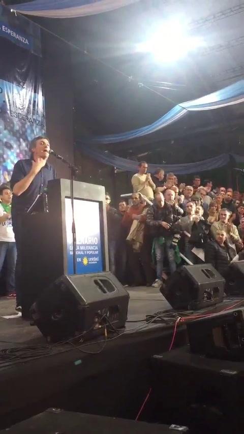 Máximo Kirchner reapareció con un encendido discurso contra Macri