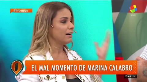 El mal momento de Marina Calabró