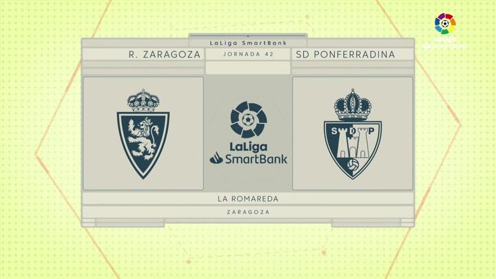 LaLiga Smartbank (Jornada 42): Zaragoza 2-1 Ponferradina