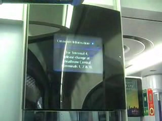 Digital out-of-home screens on Heathrow Express train
