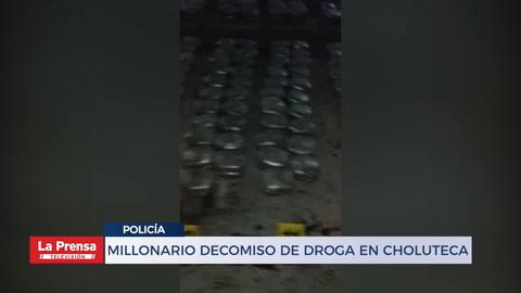 Millonario decomiso de droga en Choluteca