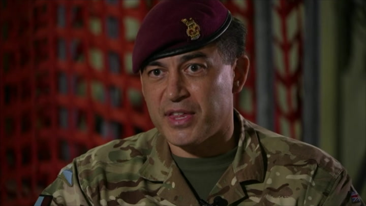 British commander describes 'desperate' scenes faced by troops in Kabul