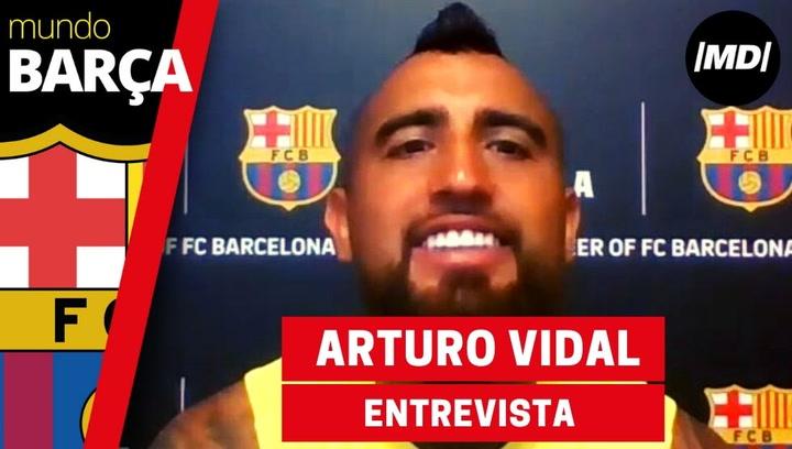 Entrevista con Arturo Vidal, jugador del FC Barcelona
