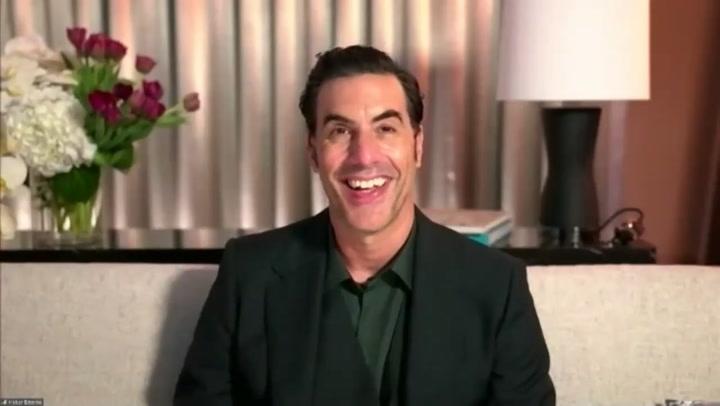 Sacha Baron Cohen 2021 Golden Globes Backstage Interview