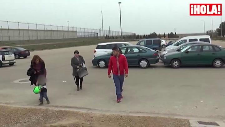 Ortega Cano recibe la visita de sus tres hijos en prisión