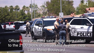 Police investigate officer-involved shooting in northern Las Vegas – Video