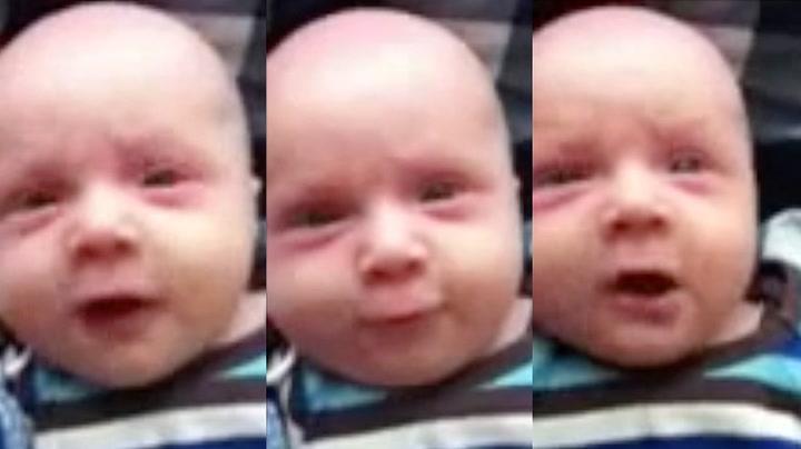 12 uker gammel sier han sitt første ord - det er ikke «mamma»