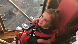 A hot air balloon event for a 4-year-old girl who has cerebral palsy.