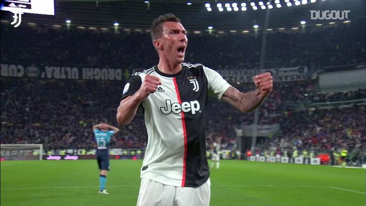 Mario Mandžukić's final goal for Juventus