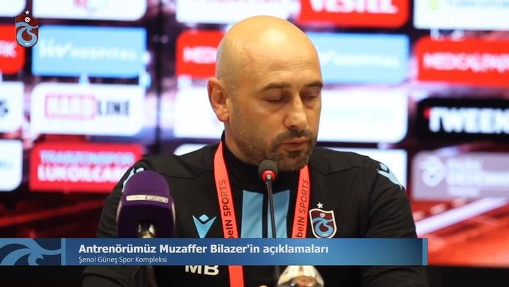 Antrenör Muzaffer Bilazer'nin Rizespor Maçının Ardından Açıklamaları