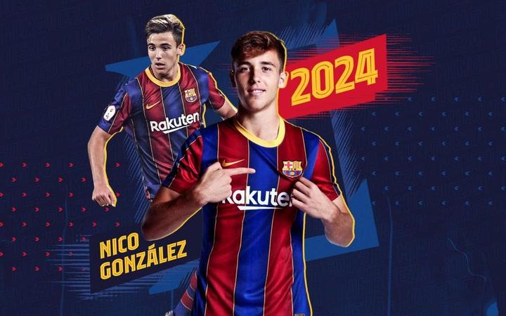 Nico González, azulgrana hasta el 2024