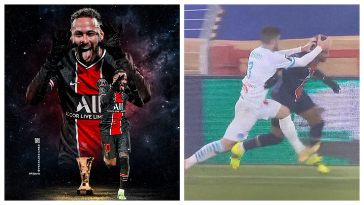 Neymar se volvió loco tras ganar la Supercopa de Francia ante el Olympique de Marsella.mp4