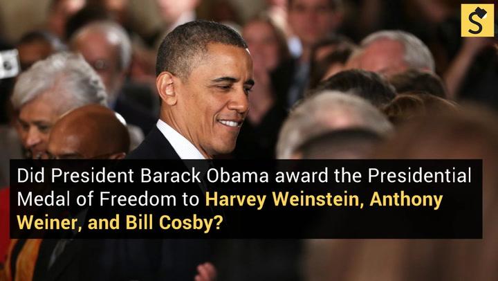 FACT CHECK: President Obama Awarded the Presidential Medal ...