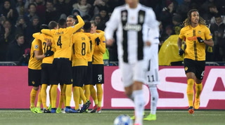Young Boys anota el 1 - 0 ante la Juventus