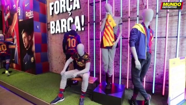 Reabre la tienda del Barça de Passeig de Gràcia