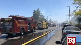 Warehouse fire in North Las Vegas