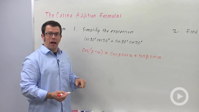 The Cosine Addition Formulas - Problem 1