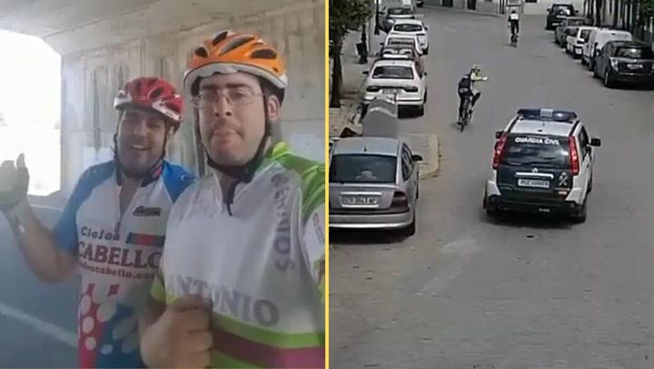 """Dos ciclistas se saltan el confinamiento: """"Somos los p*** amos. Sois unos pringaos"""""""