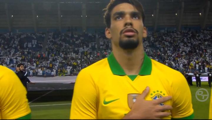 Lucas Paquetá, jugando con la selección brasileña