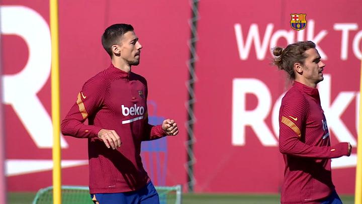 El entrenamiento del Barça pensando ya en el Villarreal