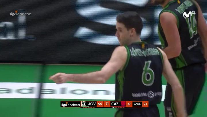 El mejor partido de Xabi López-Aróstegui con la Penya