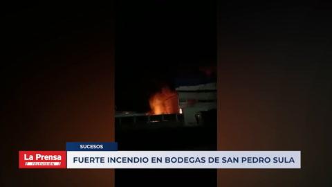 Fuerte incendio en bodegas de San Pedro Sula