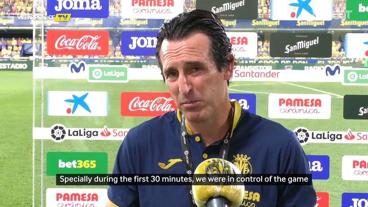 Unai Emery's on Villarreal's draw vs Huesca