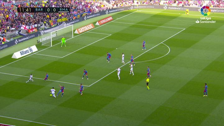 Así fue el partido de Vinicius contra el Barça en el Clásico