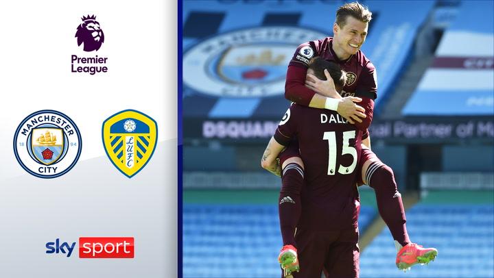 Leeds schlägt Tabellenführer in Unterzahl | Highlights: Manchester City - Leeds United 1:2