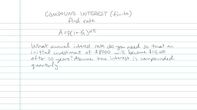 Compound Interest (Finite Number of Calculations) - Problem 4