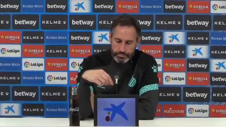 Rueda de prensa de Vicente Moreno, entrenador del Espanyol