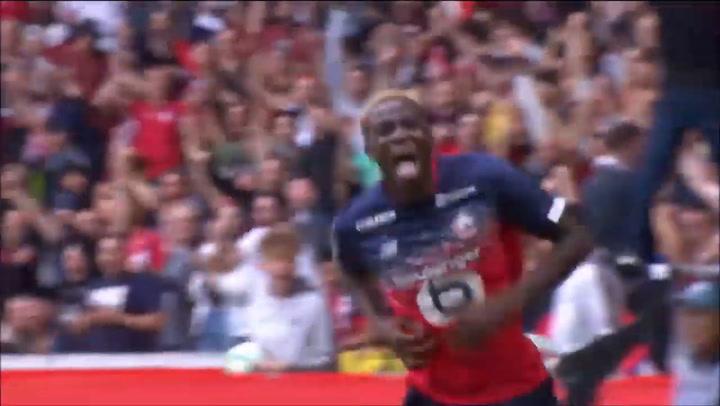 Así juega Víctor Osimhen (Lille)