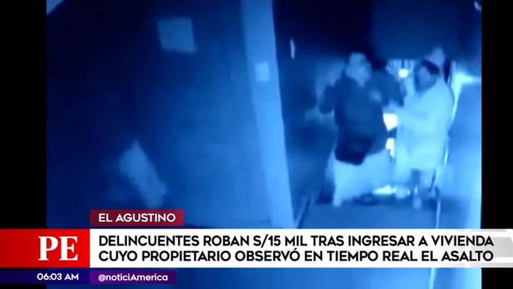 El Agustino: tres delincuentes roban vivienda y se llevan más de S/ 15.000