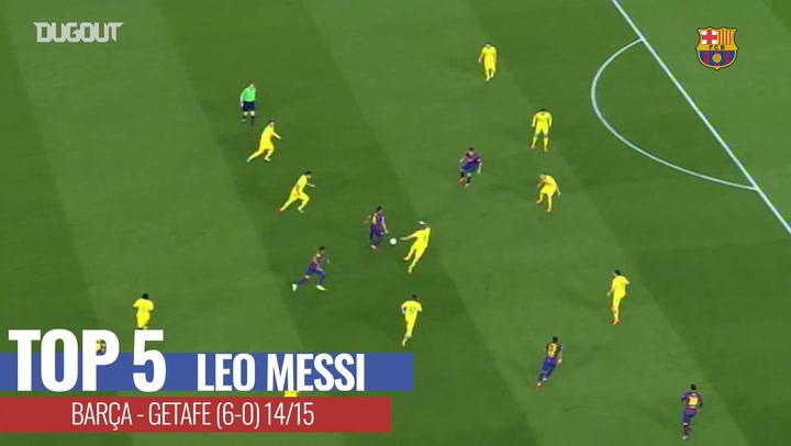 Barça's Top Five goals against Getafe at Camp Nou