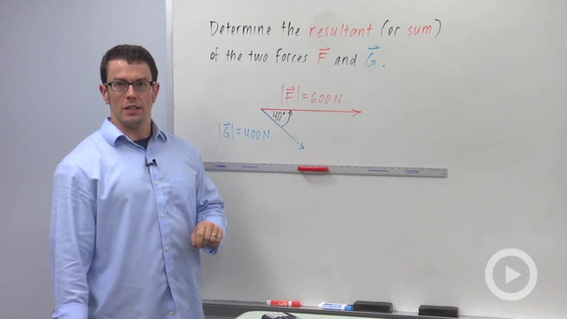 The Resultant of Two Forces - Problem 2