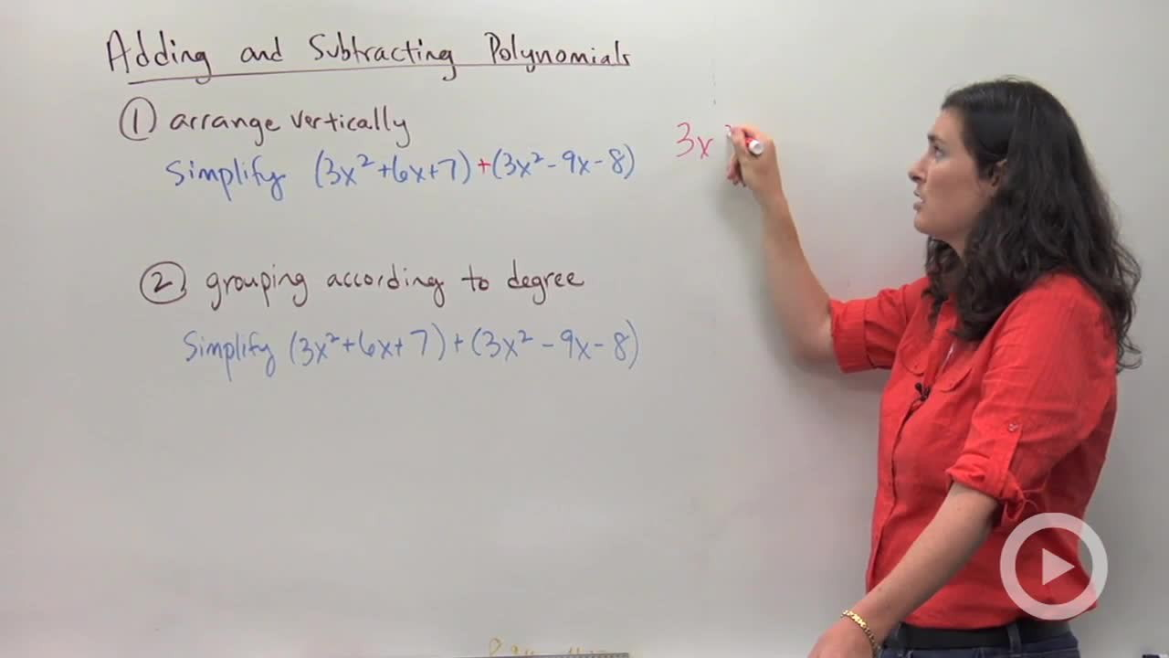 Adding And Subtracting Polynomials  Concept  Algebra Video By Brightstorm