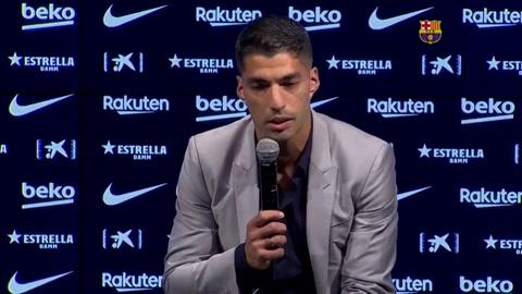 Luis Suárez emocionado: