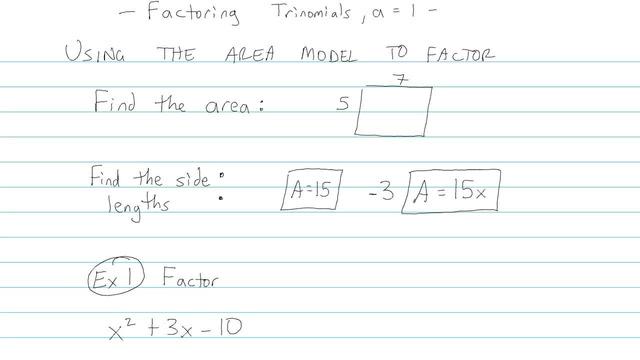 Factoring Trinomials, a = 1 - Problem 5