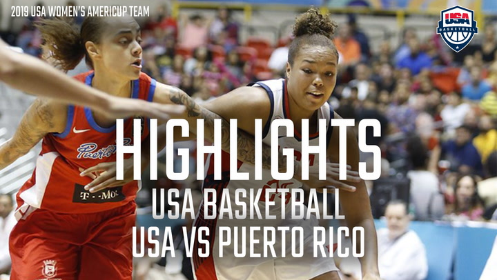 2019 Americup Highlights: USA 78, Puerto Rico 54