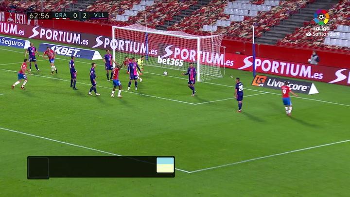 Gol de Domingos Duarte (1-2) en el Granada 1-3 Valladolid