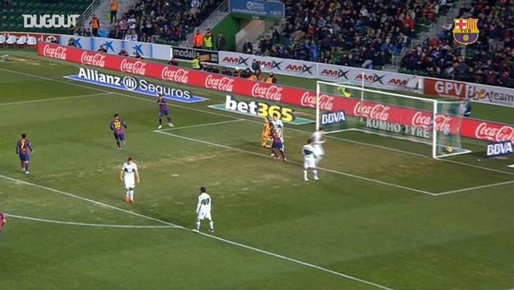 La volea de Neymar Jr ante el Elche