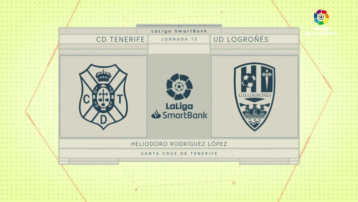LaLiga SmartBank (J13): Resumen y gol del Tenerife 0-1 Logroñés