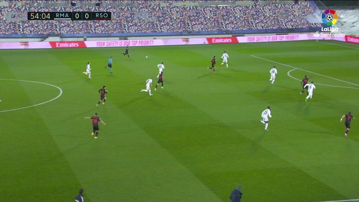 Gol de Portu (0-1) en el Real Madrid 1-1 Real Sociedad