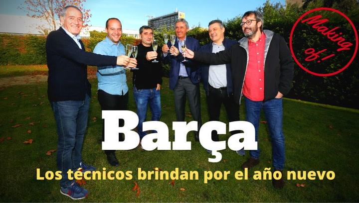 Así fue el Making of del brindis con los entrenadores del FC Barcelona