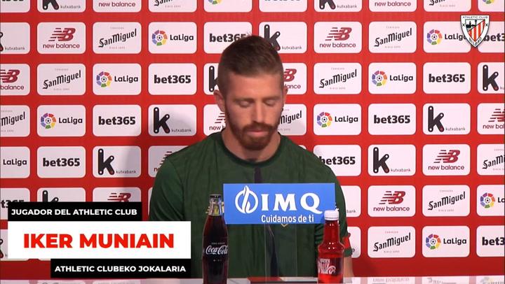 Rueda de prensa de Iker Muniain previa al derbi contra el Alavés