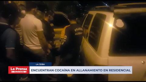 Encuentran cocaína en allanamiento residencial