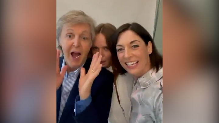 Paul McCartney serenaded by daughters during birthday celebration